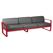Bellevie Outdoor 3 Seater Sofa - Poppy/Graphite Grey