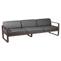Bellevie Outdoor 3 Seater Sofa - Russet/Graphite Grey