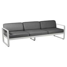 Bellevie Outdoor 3 Seater Sofa - Steel Grey/Graphite Grey
