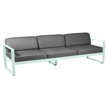Bellevie Outdoor 3 Seater Sofa - Ice Mint/Graphite Grey
