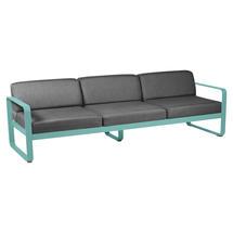 Bellevie Outdoor 3 Seater Sofa - Lagoon Blue/Graphite Grey