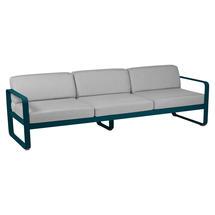 Bellevie Outdoor 3 Seater Sofa - Acapulco Blue/Flannel Grey