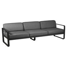 Bellevie Outdoor 3 Seater Sofa - Liquorice/Graphite Grey