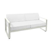 Bellevie Outdoor 2 Seater Sofa - Clay Grey/Off White