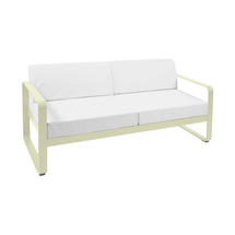 Bellevie Outdoor 2 Seater Sofa - Willow Green/Off White