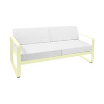 Bellevie Outdoor 2 Seater Sofa - Frosted Lemon/Off White