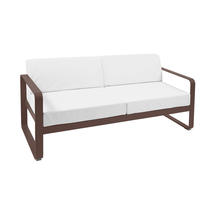 Bellevie Outdoor 2 Seater Sofa - Russet/Off White
