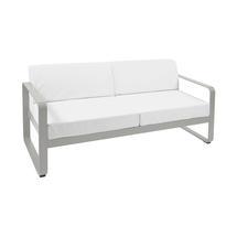 Bellevie Outdoor 2 Seater Sofa - Steel Grey/Off White