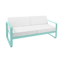 Bellevie Outdoor 2 Seater Sofa - Lagoon Blue/Off White