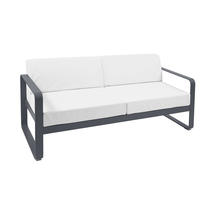 Bellevie Outdoor 2 Seater Sofa - Anthracite/Off White