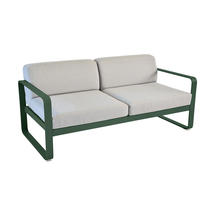 Bellevie Outdoor 2 Seater Sofa - Cedar Green/Flannel Grey