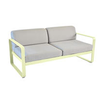 Bellevie Outdoor 2 Seater Sofa - Frosted Lemon/Flannel Grey