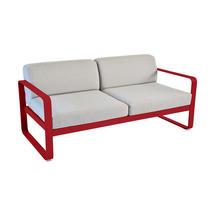 Bellevie Outdoor 2 Seater Sofa - Poppy/Flannel Grey