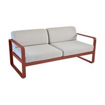 Bellevie Outdoor 2 Seater Sofa - Red Ochre/Flannel Grey