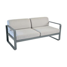 Bellevie Outdoor 2 Seater Sofa - Storm Grey/Flannel Grey