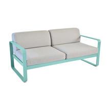 Bellevie Outdoor 2 Seater Sofa - Lagoon Blue/Flannel Grey
