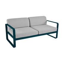 Bellevie Outdoor 2 Seater Sofa - Acapulco Blue/Flannel Grey