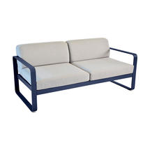 Bellevie Outdoor 2 Seater Sofa - Deep Blue/Flannel Grey