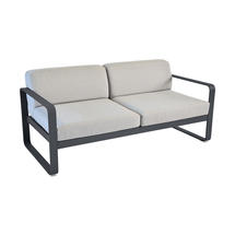 Bellevie Outdoor 2 Seater Sofa - Anthracite/Flannel Grey