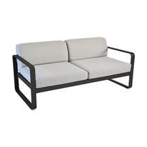 Bellevie Outdoor 2 Seater Sofa - Liquorice/Flannel Grey