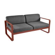 Bellevie Outdoor 2 Seater Sofa - Red Ochre/Graphite Grey