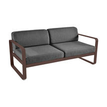 Bellevie Outdoor 2 Seater Sofa - Russet/Graphite Grey