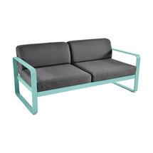 Bellevie Outdoor 2 Seater Sofa - Lagoon Blue/Graphite Grey