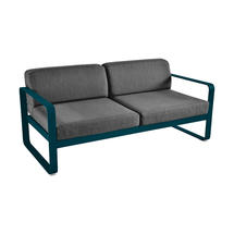 Bellevie Outdoor 2 Seater Sofa - Acapulco Blue/Graphite Grey