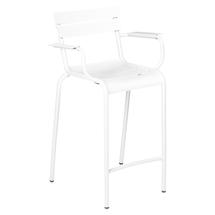 Luxembourg High Armchair - Cotton White