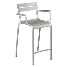 Luxembourg High Armchair - Steel Grey