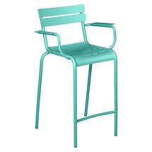 Luxembourg High Armchair - Lagoon Blue