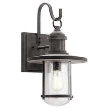 Riverwood XL Wall Lantern - Weathered Zinc
