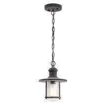 Riverwood Hanging Chain Lantern - Weathered Zinc