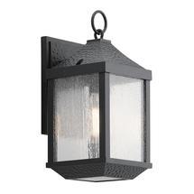 Springfield 1 Light Small Wall Lantern Distressed Black
