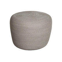 Circle Small Footstool - Taupe