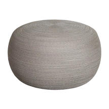 Circle Large Footstool - Taupe
