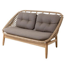 String Outdoor Lounge 2 Seater Sofa with Cushions