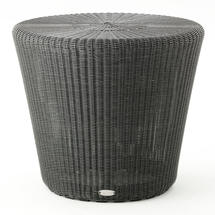 Kingston Woven Small Stool / Side Table - Graphite