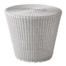 Kingston Woven Small Stool / Side Table - White Grey