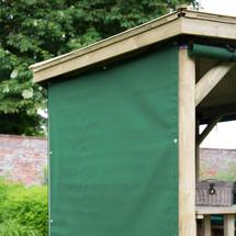 Curtains for 3.0m Hexagonal Garden Gazebo - Green