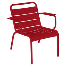 Luxembourg Lounge Armchair- Chilli