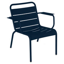 Luxembourg Lounge Armchair- Deep Blue