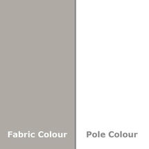Easy Track Parasol 330cm sq - Pebble/White Pole