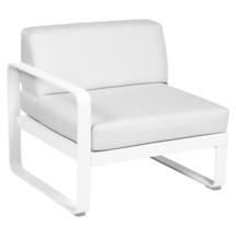 Bellevie 1 Seater Left Module - Cotton White/Off White