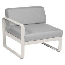 Bellevie 1 Seater Left Module - Clay Grey/Flannel Grey