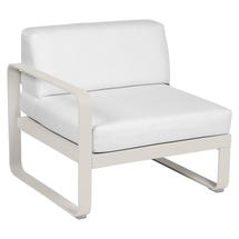 Bellevie 1 Seater Left Module - Clay Grey/Off White