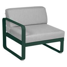 Bellevie 1 Seater Left Module - Cedar Green/Flannel Grey
