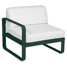 Bellevie 1 Seater Left Module - Cedar Green/Off White