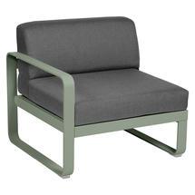 Bellevie 1 Seater Left Module - Cactus/Flannel Grey