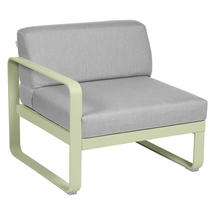 Bellevie 1 Seater Left Module - Willow Green/Flannel Grey